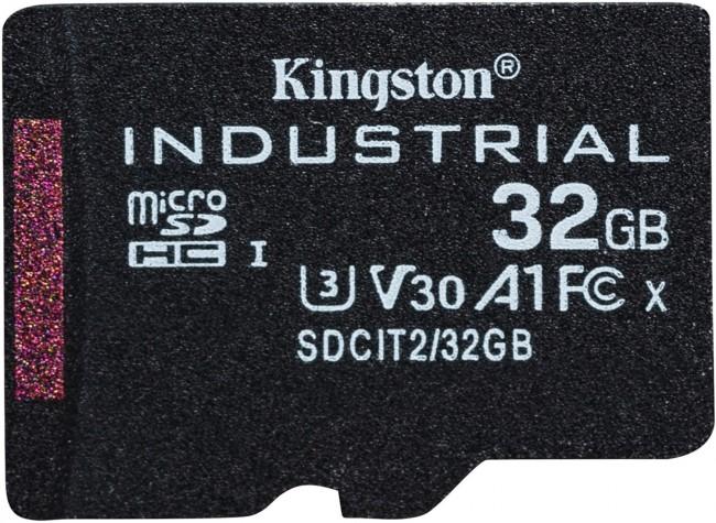 Kingston Industrial microSDHC 32GB Class 10 A1 pSLC + SD Adapter - zdjęcie główne