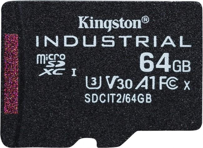 Kingston Industrial microSDHC 64GB Class 10 A1 pSLC + SD Adapter - zdjęcie główne