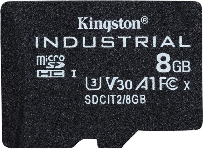 Kingston Industrial microSDHC 8GB Class 10 A1 pSLC + SD Adapter - zdjęcie główne