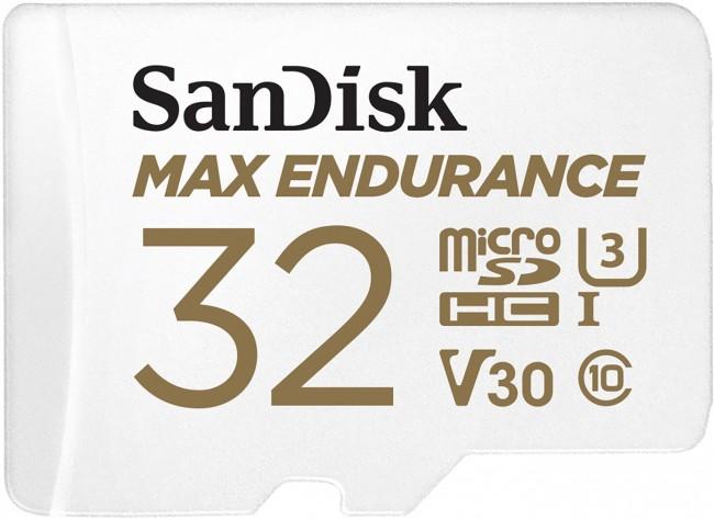 SanDisk Max Endurance microSDHC 32GB Class 10 U3 + Adapter - zdjęcie główne