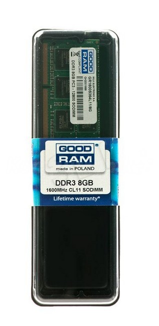 GOODRAM 8GB [1x8GB 1600MHz DDR3 CL11 SODIMM] - zdjęcie główne