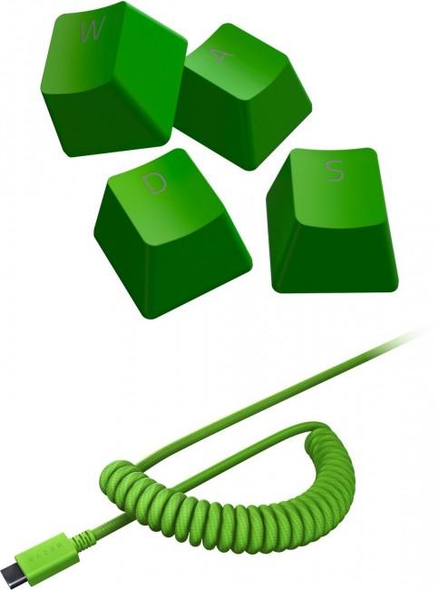 Razer PBT Keycap + Coiled Cable Upgrade Set Green - zdjęcie główne