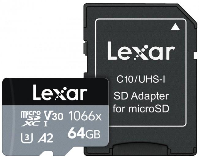 Lexar 64GB microSDXC High-Performance 1066x UHS-I C10 A2 V30 U3 - zdjęcie główne