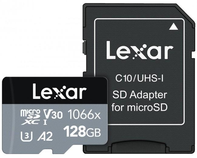 Lexar 128GB microSDXC High-Performance 1066x UHS-I C10 A2 V30 U3 - zdjęcie główne