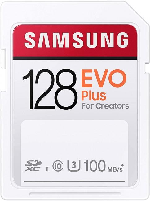Samsung EVO PLUS SDXC 128GB UHS-I U3 [Zapis 30MB/s Odczyt 100MB/s] - zdjęcie główne