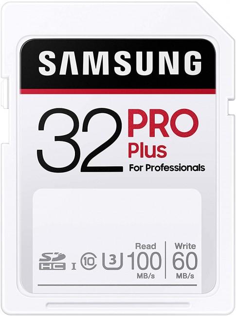 Samsung PRO Plus SDHC 32GB UHS-I U3 [Zapis 60MB/s Odczyt 100MB/s] - zdjęcie główne
