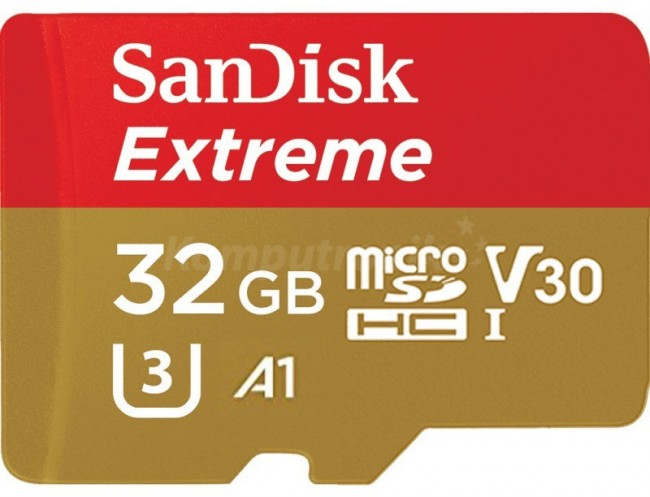 SanDisk microSDHC 32GB Extreme U3 V30 UHS-I A1 100/60 MB/s Mobile - zdjęcie główne