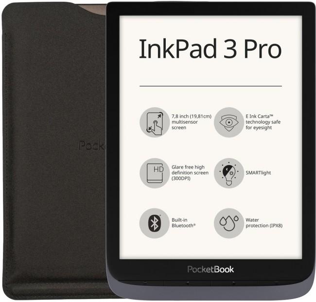 PocketBook 740 InkPad 3 Pro Szary z etui - zdjęcie główne