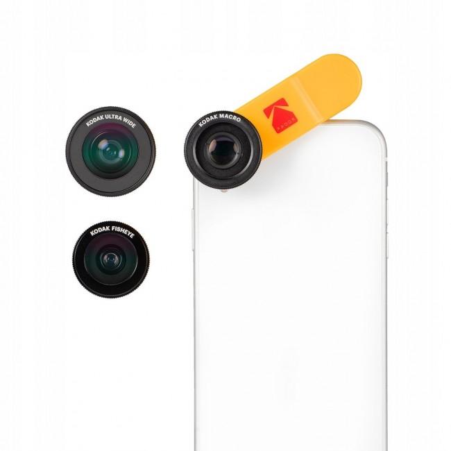 Kodak Lens Kit 3w1 MAKRO WIDE FISH EYE zestaw obiektywów do smartfona - zdjęcie główne