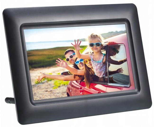 """Agfa Photo LED HD 7"""" + Zegar Kalendarz APF700 czarna - zdjęcie główne"""