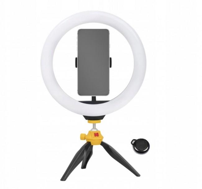 Kodak LED Ring Light Selphie 10'' SL001 + Statyw Pilot Czarny - zdjęcie główne