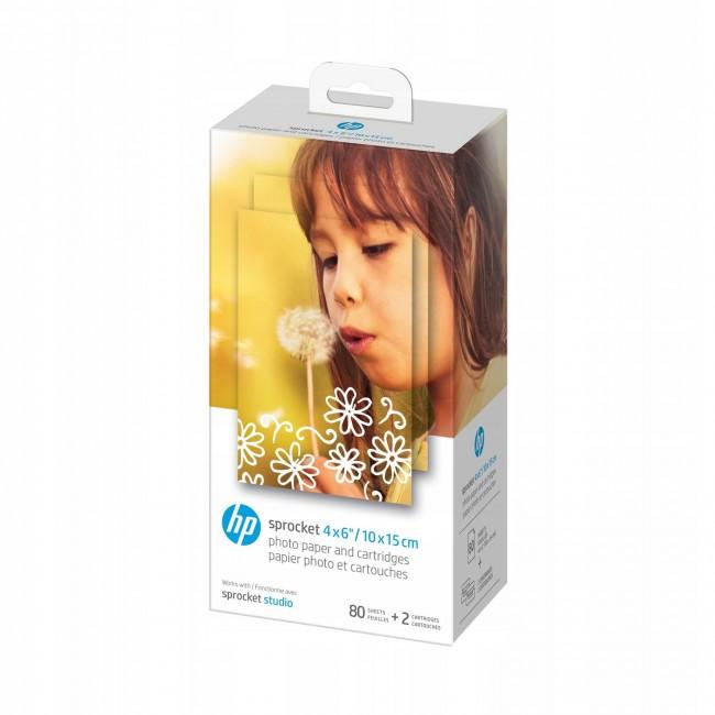 HP Sprocket Studio 4x6'' - papier do drukarki HP SPROCKET STUDIO - 80 szt. - zdjęcie główne