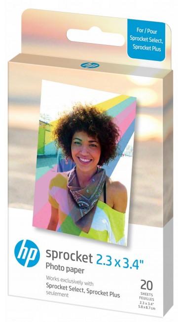 HP Sprocket 2,3x3,4'' - papier do drukarki HP SPROCKET SELECT/PLUS - 20 szt. - zdjęcie główne