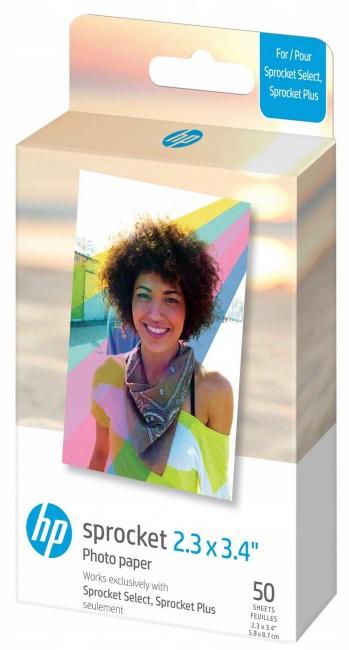 HP Sprocket 2,3x3,4'' - papier do drukarki HP SPROCKET SELECT/PLUS - 50 szt. - zdjęcie główne