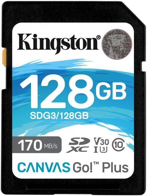 Kingston SDXC Canvas Go Plus 128GB 170R C10 UHS-I U3 V30 - zdjęcie główne