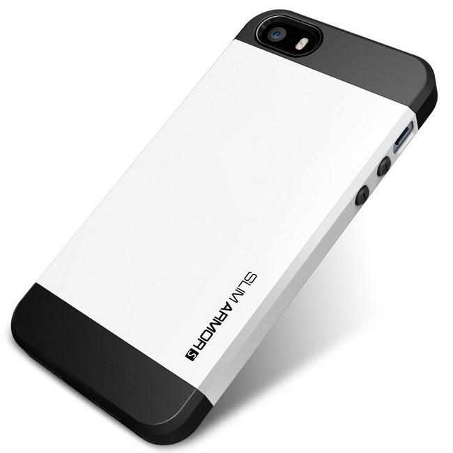 Spigen Slim Armor iPhone 5/5S biały | cena, raty - sklep ...