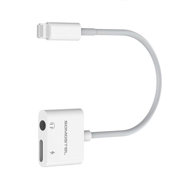Somostel Lightning to miniJack/Lightning biały - zdjęcie główne