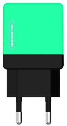 Somostel 2.1A miętowo-czarna kabel lightning - zdjęcie główne