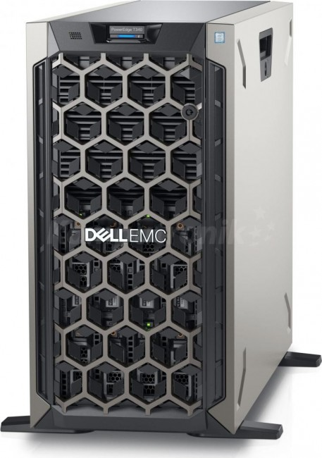 DELL PE T340 Intel Xeon E2234 Chassis 8 x 3.5 HotPlug 16GBub 2x480GB SSD Casters Bezel DVD RW PERC H330 iDRAC9 Exp Redundant 495W 3y - zdjęcie główne