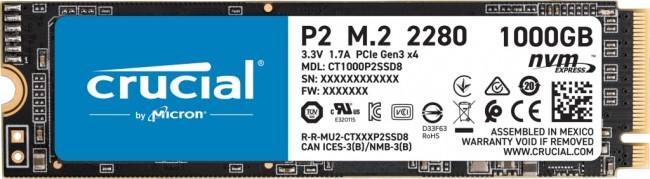 Crucial P2 M.2 PCI-e NVMe 1TB - zdjęcie główne