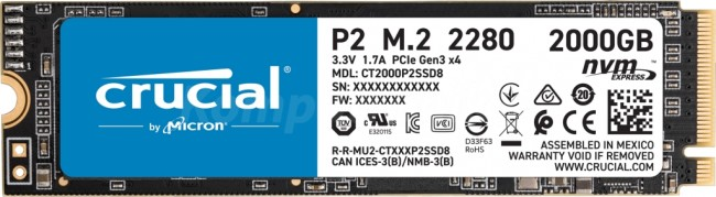 Crucial P2 M.2 PCI-e NVMe 2TB - zdjęcie główne