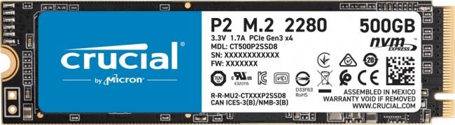Crucial P2 M.2 PCI-e NVMe 500GB - zdjęcie główne