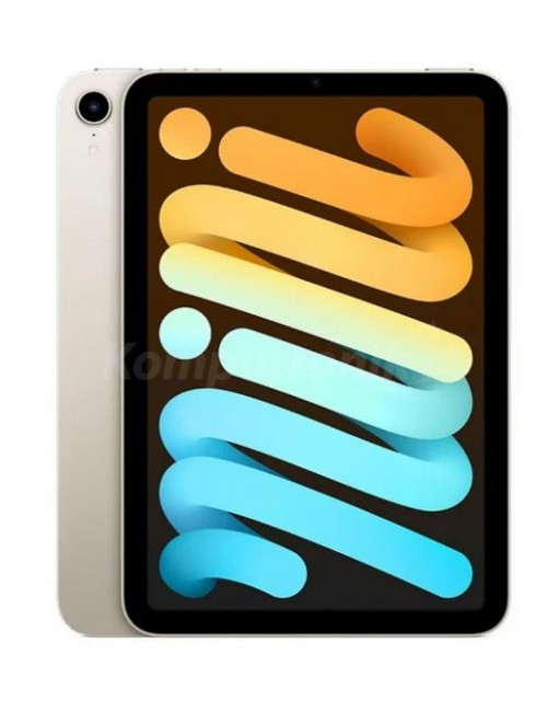 Apple iPad mini A15 64GB Wi-Fi Księżycowa Poświata (Starlight) - zdjęcie główne