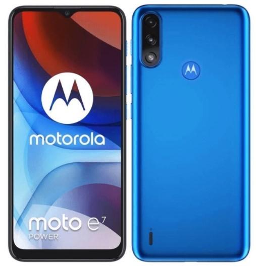 Motorola Moto E7 Power Tahiti Blue - zdjęcie główne