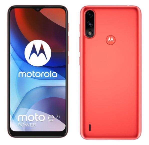 Motorola Moto E7 Power Coral Red - zdjęcie główne