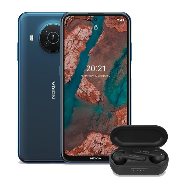 Nokia X20 Dual SIM 8/128GB Niebieski 5G+ Nokia Lite Earbuds - zdjęcie główne