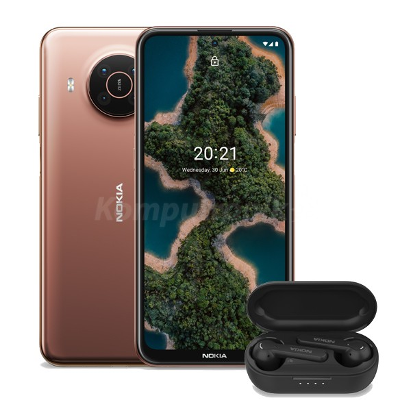 Nokia X20 Dual SIM 8/128GB Piaskowy 5G+ Nokia Lite Earbuds - zdjęcie główne