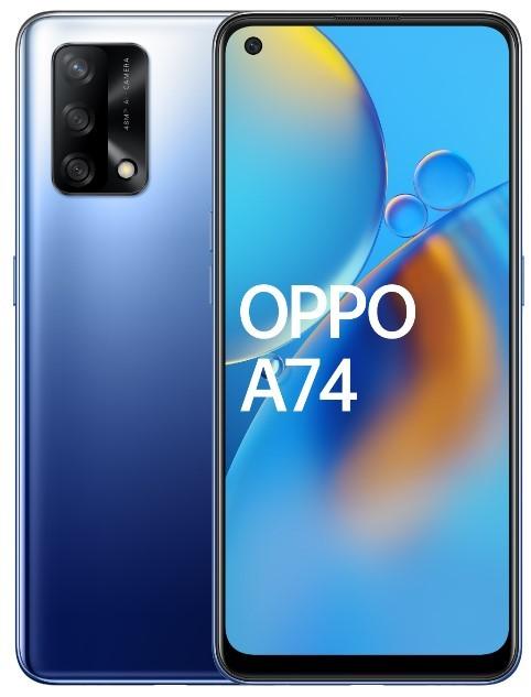 OPPO A74 4/128 Dual SIM niebieski - zdjęcie główne