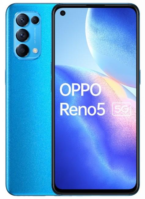 OPPO Reno 5 5G 8/128 Niebieski - zdjęcie główne