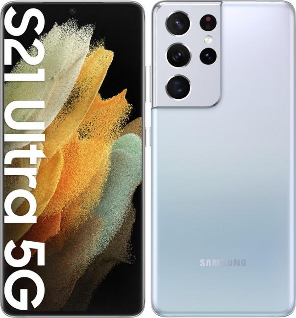 Samsung Galaxy S21 Ultra 5G 512GB Dual SIM srebrny (G998) - zdjęcie główne