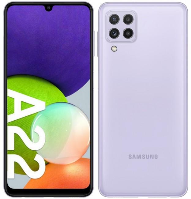 Samsung Galaxy A22 64GB Dual SIM fioletowy (A225) - zdjęcie główne