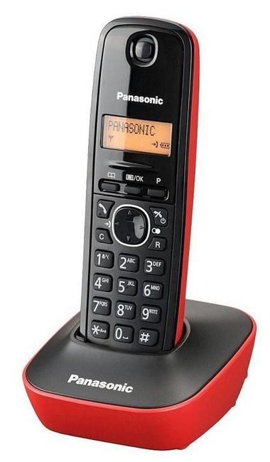 Panasonic KX-TG1611PDR czarno czerwony - zdjęcie główne