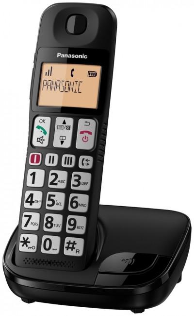 Panasonic KX-TGE110PDB czarny - zdjęcie główne