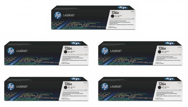 Toner HP CE310A czarny x5 - zdjęcie główne