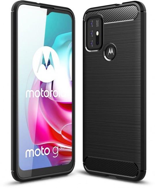 Tech-Protect Tpucarbon Motorola Moto G10/G30 black - zdjęcie główne