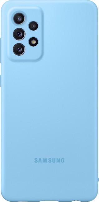 Samsung Silicone Cover do Galaxy A72 blue - zdjęcie główne