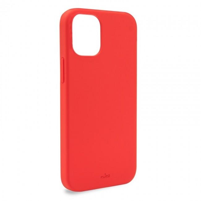 Puro Icon Anti-Microbial Cover - etui iPhone 12 / iPhone 12 Pro z ochroną antybakteryjną czerwony - zdjęcie główne