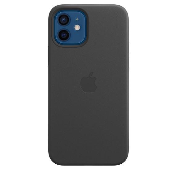 Apple iPhone 12 | 12 Pro Leather Case with MagSafe black - zdjęcie główne