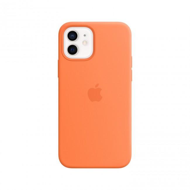 Apple iPhone 12 mini Silicone Case with MagSafe kumquat - zdjęcie główne