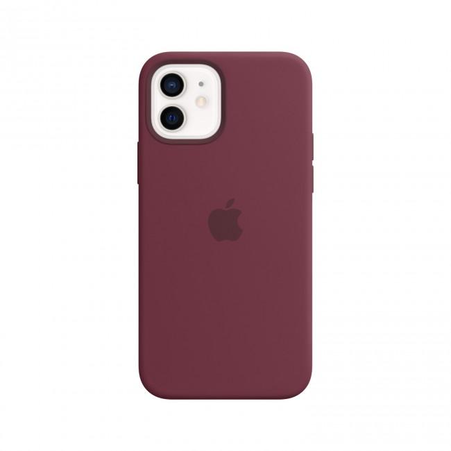 Apple iPhone 12   12 Pro Silicone Case with MagSafe plum - zdjęcie główne