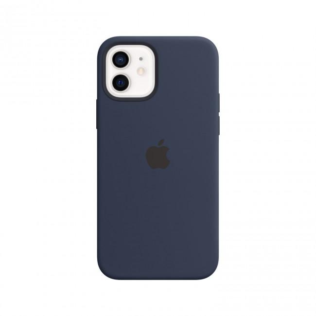 Apple iPhone 12   12 Pro Silicone Case with MagSafe deep navy - zdjęcie główne
