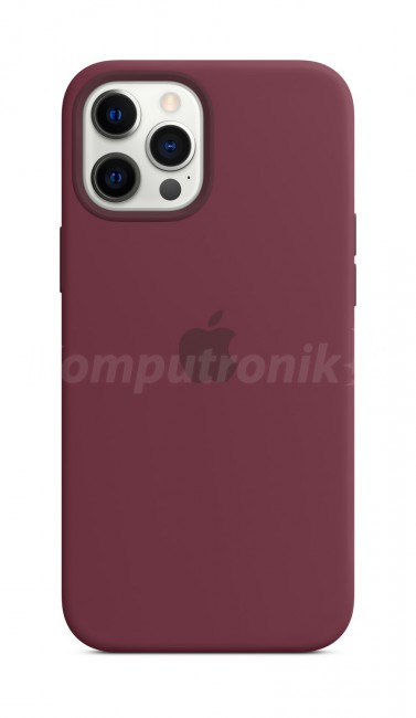 Apple iPhone 12 Pro Max Silicone Case with MagSafe plum - zdjęcie główne