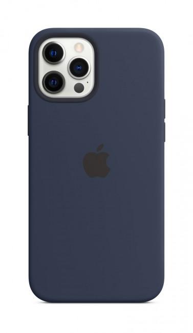 Apple iPhone 12 Pro Max Silicone Case with MagSafe deep navy - zdjęcie główne