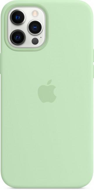 Apple iPhone 12 Pro Max Silicone Case with MagSafe pistachio - zdjęcie główne