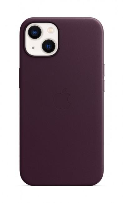 Apple iPhone 13 Leather Case with MagSafe - dark cherry - zdjęcie główne