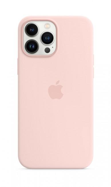 Apple iPhone 13 Pro Max Silicone Case with MagSafe – chalk pink - zdjęcie główne